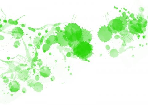 Green Paint Splats - Free Stock Photo