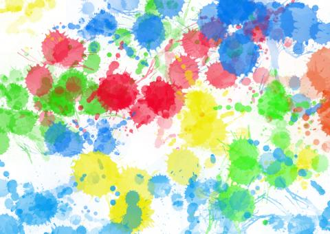Colourful Paint Splats - Free Stock Photo
