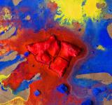 Free Photo - Abstract painted canvas