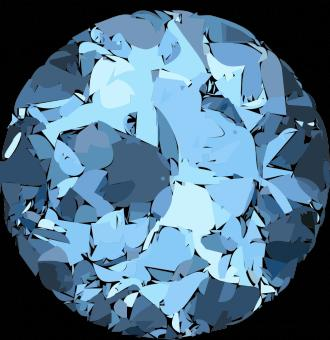 Blue crystal - Free Stock Photo