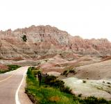 Free Photo - Road through the Desert Badlands