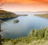 Free Photo - Emerald Bay at Sunset Lake Tahoe
