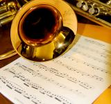 Free Photo - Trumpet and Music Sheet