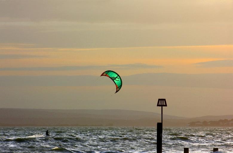 Free Stock Photo of kite surfer Created by paul clifton