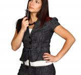 Free Photo - A beautiful young business woman posing