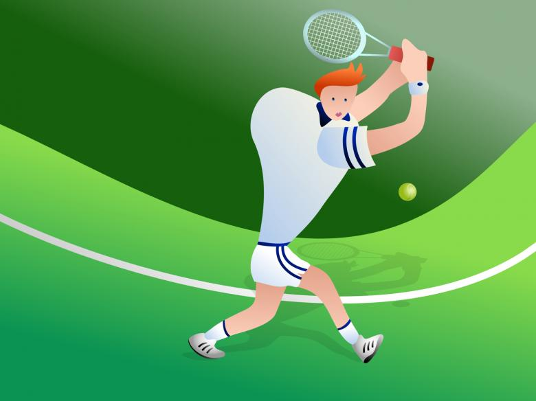 Free Stock Photo of Tennis Clipart Created by Prawny