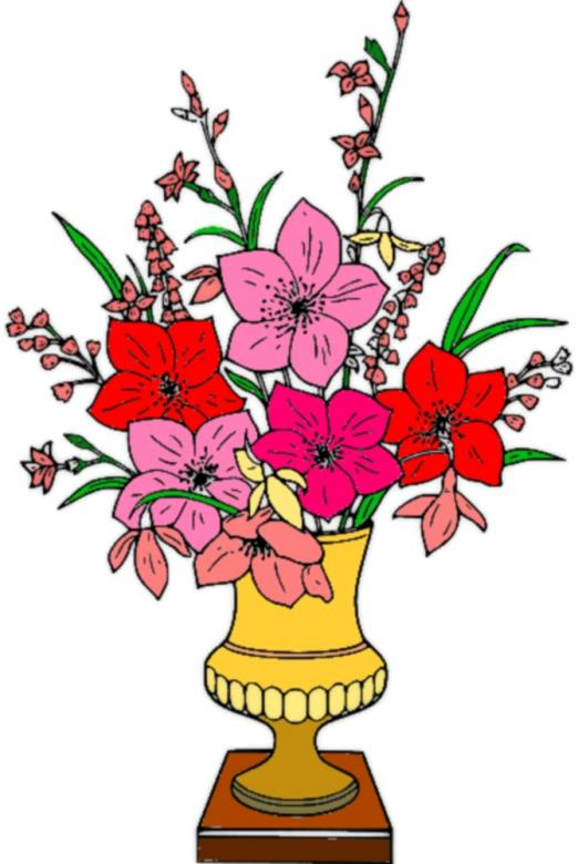 Free Stock Photo of Vase of flowers clipart Created by chakomajaw