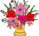 Free Photo - Vase of flowers clipart