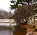 Free Photo - A snow covered dock by a lake