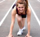 Free Photo - A cute young girl on a track field