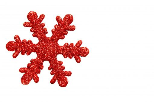 Red snowflake shaped Christmas ornament - Free Stock Photo