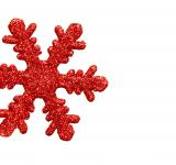 Free Photo - Red snowflake shaped Christmas ornament