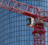 Free Photo - Red construction crane