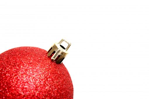 A red Christmas ornament - Free Stock Photo