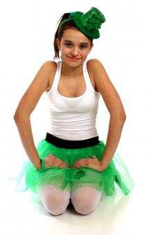 Girl dressed for Saint Patrick