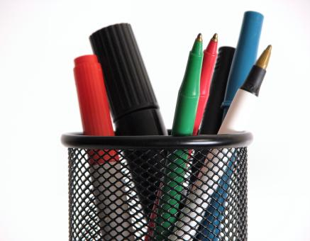 Colored pens and markers - Free Stock Photo