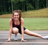 Free Photo - A cute young girl doing stretches