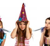 Free Photo - Three young girls celebrating a birthday
