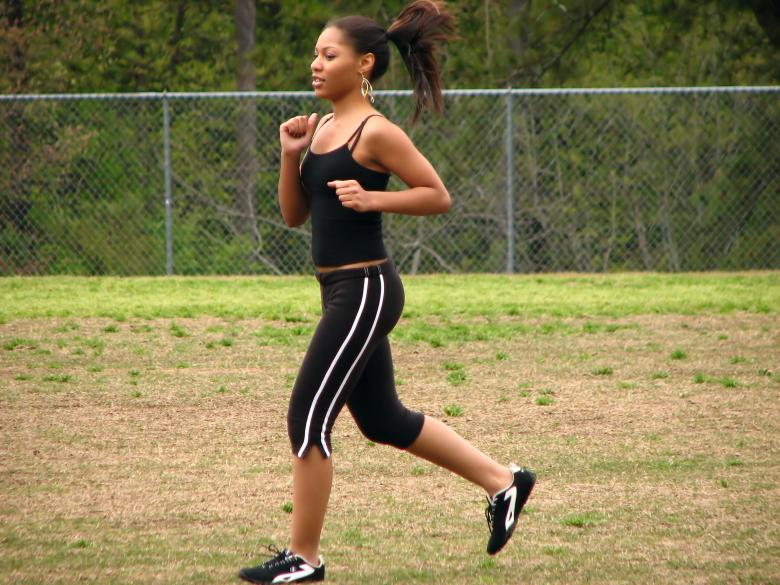 Free Stock Photo of Teen African American girl running Created by Benjamin Miller