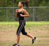 Free Photo - Teen African American girl running