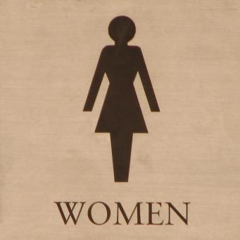 Illustration of a womens restroom sign - Free Stock Photo
