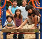 Free Photo - A group of kids posing on a playground