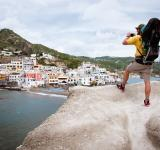 Free Photo - Backpacker with baby at S.Angelo Ischia