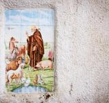 Free Photo - Religious tiles in street of italy