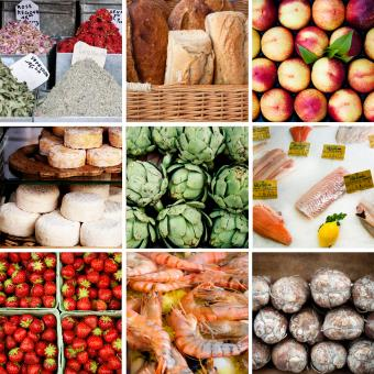 Market food collage - Free Stock Photo