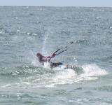 Free Photo - A kitesurfer at sea