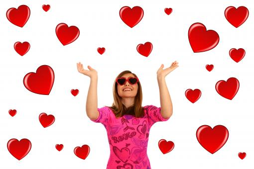 Young girl dressed up for Valentines Day - Free Stock Photo