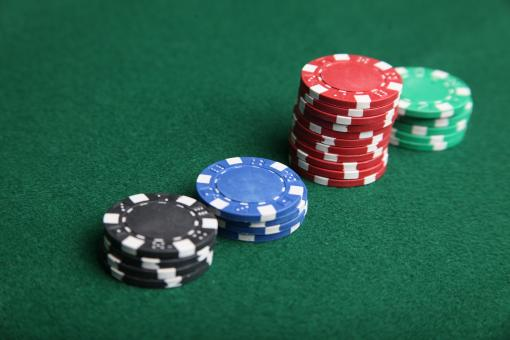 Poker chip stacks - Free Stock Photo