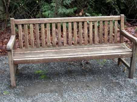 Weathered wood bench - Free Stock Photo