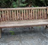 Free Photo - Weathered wood bench