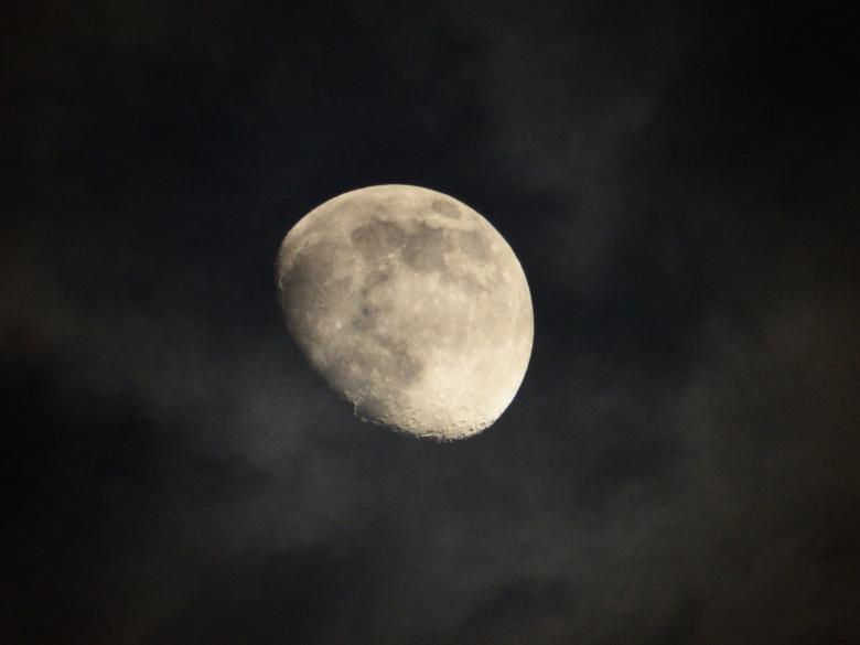 The Moon at Night - Free Space Stock Photos