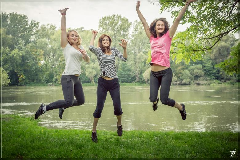 Free Stock Photo of Jumping girls Created by Frantisek Pech