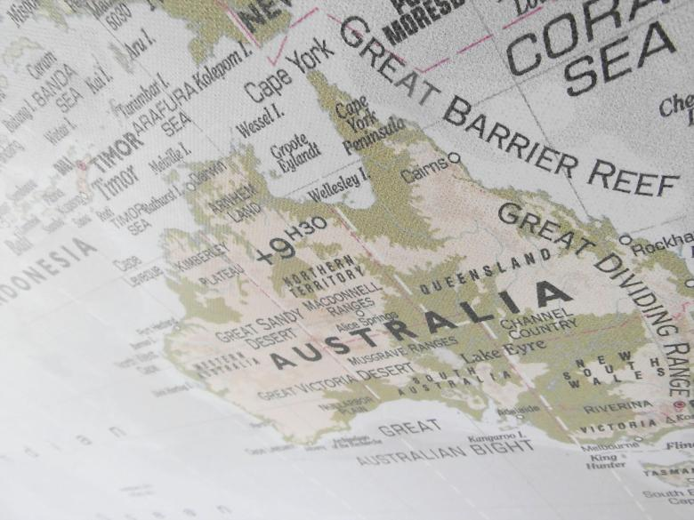 Free Stock Photo of Australia Map Created by Ivan
