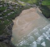 Free Photo - Cornish coast aerial view