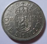 Free Photo - 1958 one shilling coin