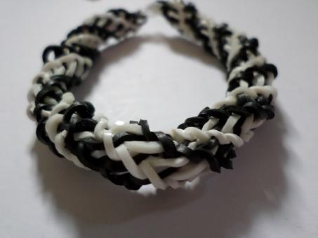 Black and white spiral loom bracelet - Free Stock Photo