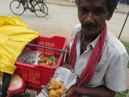 Roadside samosa seller - Free Stock Photo