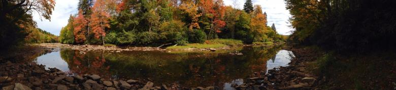 Free Stock Photo of River Panorama Created by Nature Girl