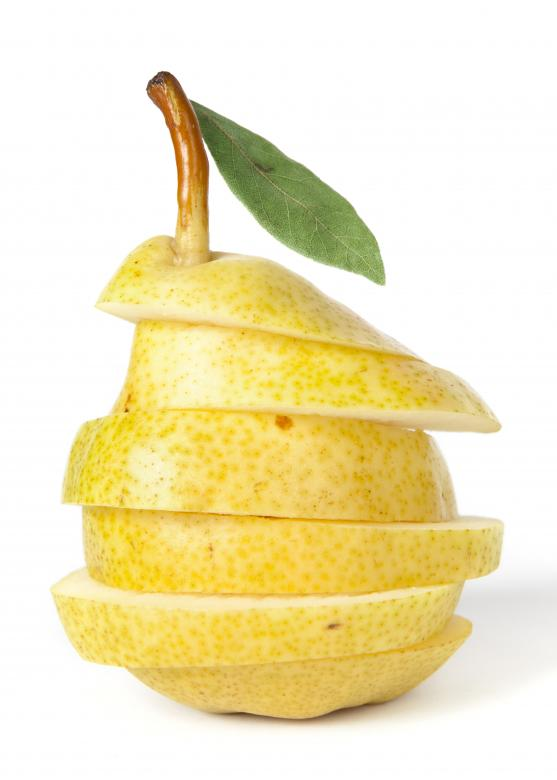 Free Stock Photo of sliced fresh juicy pear Created by 2happy