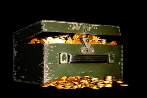 Chest with coins - Free Stock Photo