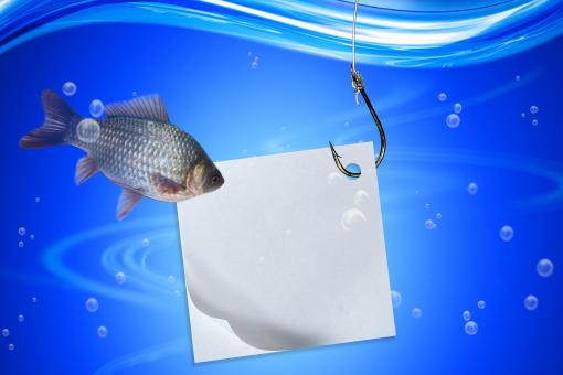 Fishing line and hook with note - Free Stock Photo