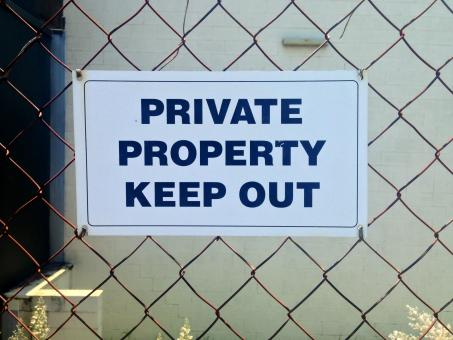Private property keep out sign - Free Stock Photo
