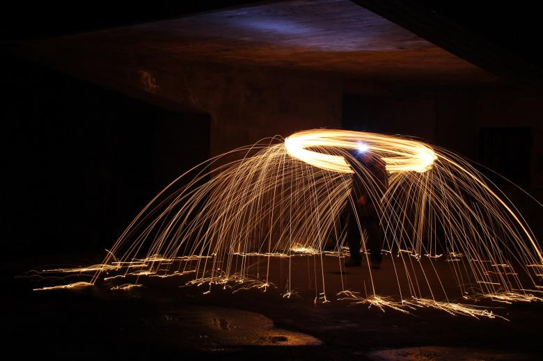 Free Stock Photo of Light painting Created by Geoffrey Whiteway