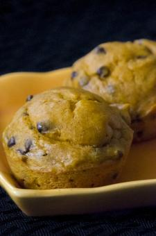 Banana Pumpkin Chocolate Chip Muffins - Free Stock Photo