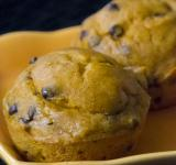 Free Photo - Banana Pumpkin Chocolate Chip Muffins