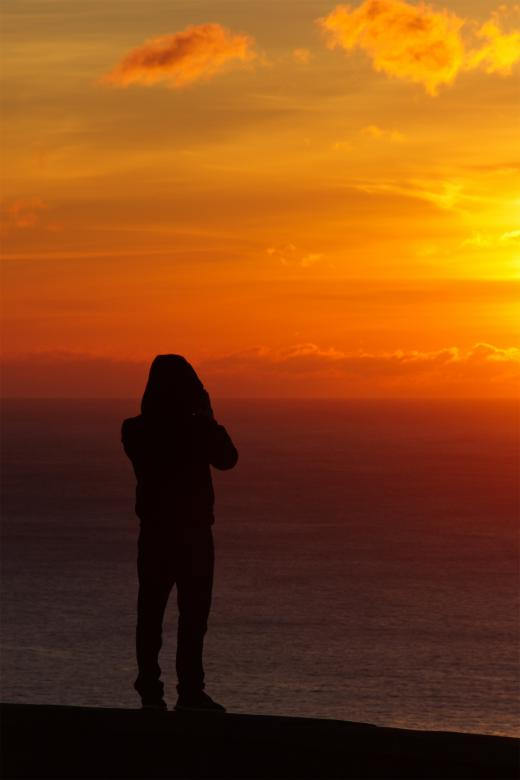 Free Stock Photo of Silhouette at Sunrise Created by Geoffrey Whiteway